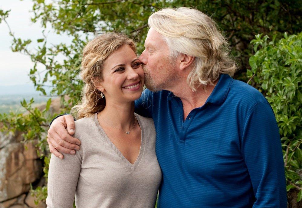 Richard Branson Kiss